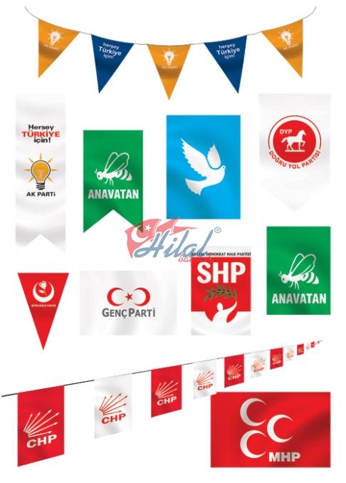 afiş parti bayrakları Seçim Bayrakları Seçim Afişleri flama Dijital Baskı Bayraklar 7 24 hizmet