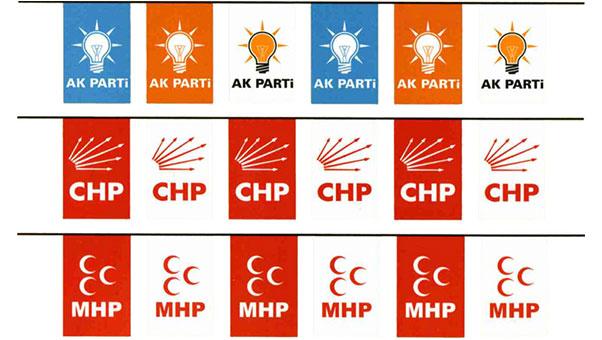 parti bayrakları Seçim Bayrakları Seçim Afişleri flama Dijital Baskı Bayraklar 7 24 hizmet